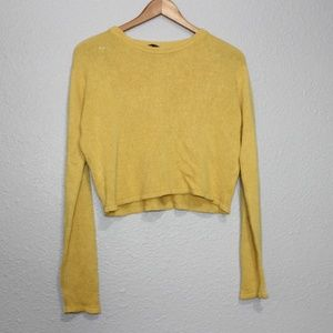 Brandy Melville Marigold Cropped Sweater One Size